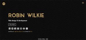 robin wilkie website homepage